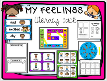 All About Me Printable Center Activities and Worksheets