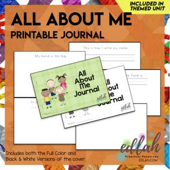 All About Me Printable Journal