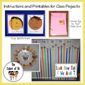 """All About Me"" Printables, Activities and Ideas for Preschool and Kindergarten"
