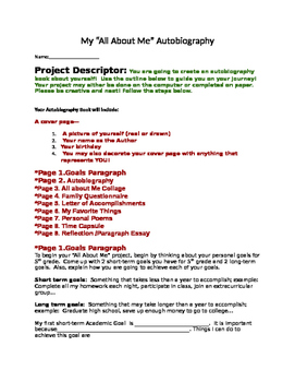 All About Me Project- Getting to know your students
