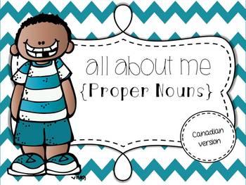 All About Me: Proper Nouns {Freebie}