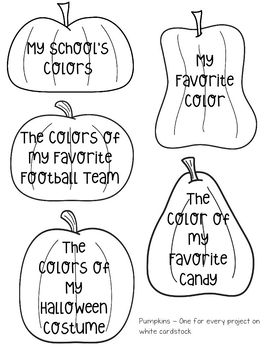 All About Me Pumpkin Patch Craft
