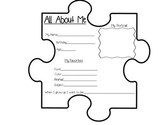 All About Me Puzzle Piece