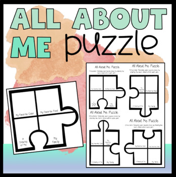 All About Me Puzzle!!!