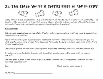 All About Me Puzzle Project