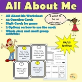 All About Me: Question Cards, Worksheet, Suggested Activities