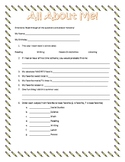 All About Me Questionnaire