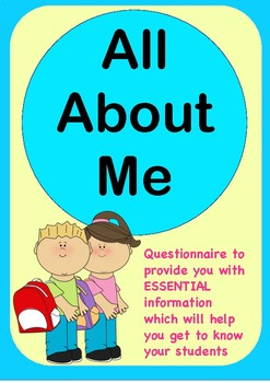 All About Me - Questionnaire