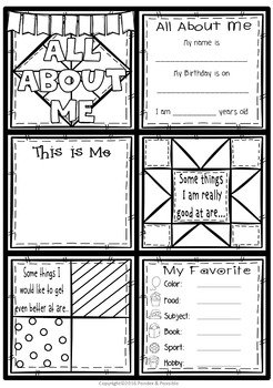 All About Me Quilt ~ Great Back to School Activity