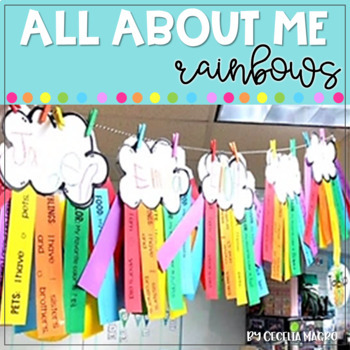 All About Me Rainbows - Back to School Craftivity