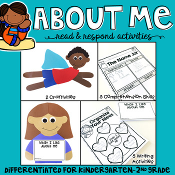 All About Me: Reading Comprehension, Writing and Craftivities