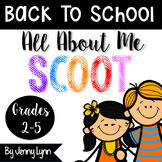 All About Me SCOOT! Back To School Activity