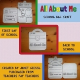 All About Me School Bag Craft Kit