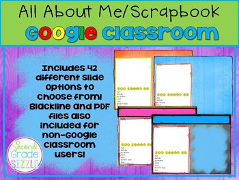 All About Me/ Scrapbook for Google Classroom!