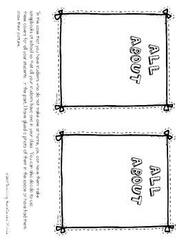 Ideas Writing scrapbook