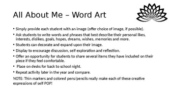 All About Me - Secondary and Upper Elementary - Word Art