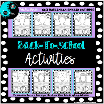All About Me Self-Portrait Posters with Scavenger Hunt and Graphing Activities