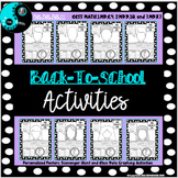 All About Me Self-Portrait Posters with Scavenger Hunt and