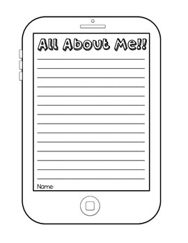 All About Me! Selfie Activity {Back to School}