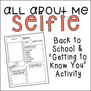 All About Me Template | All About Me Selfie Template By Angela Jerpe Teachers Pay Teachers