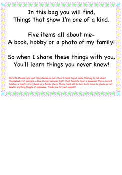 All About Me Share Bag