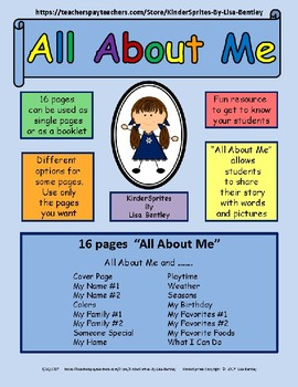 All About Me - Sharing My Story with Words and Pictures