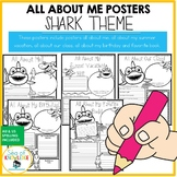 All About Me Shark Themed Posters