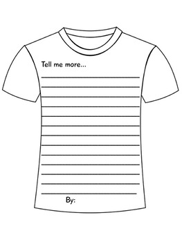 All About Me Shirt: Decorate a Shirt About You [Great Bulletin Board Display]