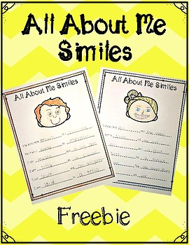 All About Me Similes - Freebie