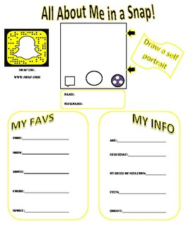 All About Me Snapchat Profile