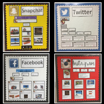 All About Me Social Media Bulletin Boards using Google BUNDLE