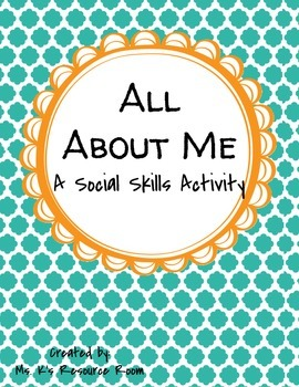 All About Me Social Skills