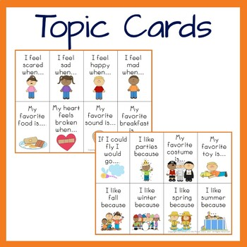 All About Me Speaking and Listening posters and discussion cards activity