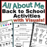 All About Me Speech Therapy Back to School