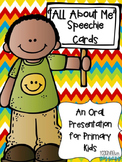 All About Me Speechie Cards for Primary Grades
