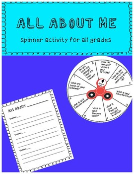 All About Me Spinner Activity