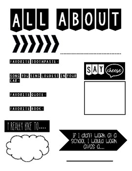 All About Me-Staff Edition