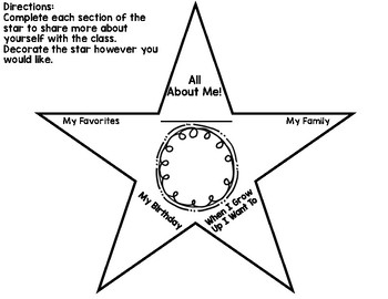All About Me Star
