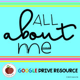 All About Me - Star Student - Getting To Know You - Google Drive Resource