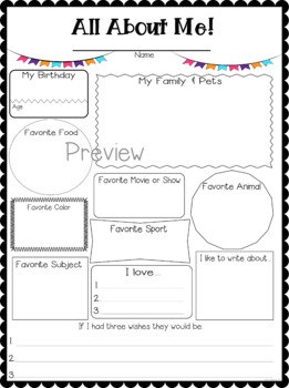 All About Me {Star of the Week}