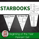 All About Me Starbooks Themed Banner Pennant Set Starbucks Growth Mindset