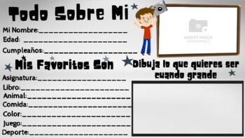 All About Me Student Banner IN SPANISH