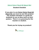 All About Me Student Checklist