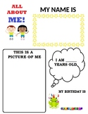 All About Me Student Display