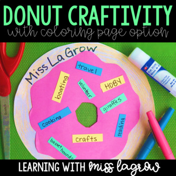 All About Me Student Donut Craft Activity for Back to School Time