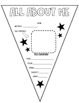 All About Me Student Flag