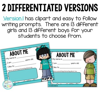 All About Me: Student Google Slides