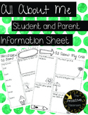 All About Me Student Information Form