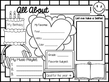 All About Me ~ Student Poster Layout ~ Perfect for Back to