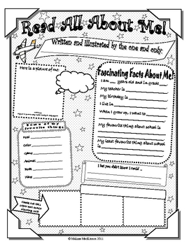 All About Me Student Poster (Letter Size)